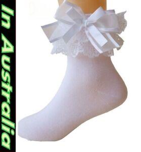 91fb3b9b317fe 48 # Sexy ladies socks lace trim satin bow stockings lingerie fancy ...