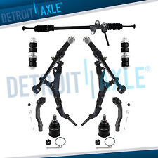 9pc Complete New Manual Steering Rack And Pinion Suspension Kit For Honda Civic