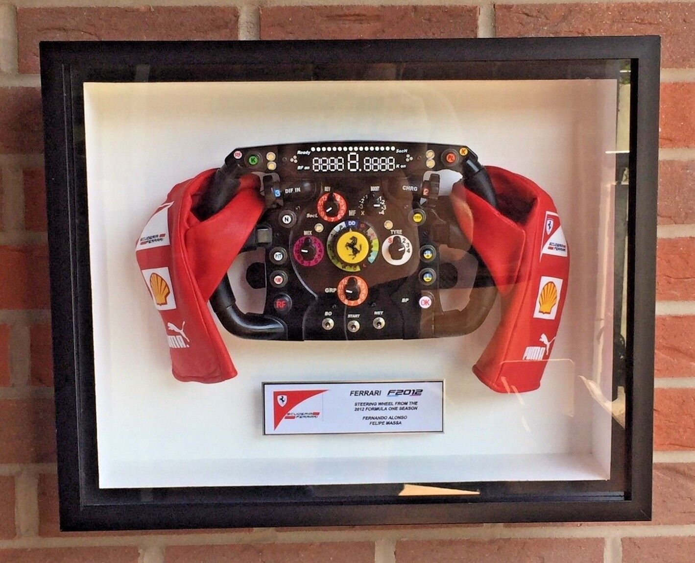 Fernando Alonso 2012 Ferrari F1 Volant formule 1 Replica Full Scale