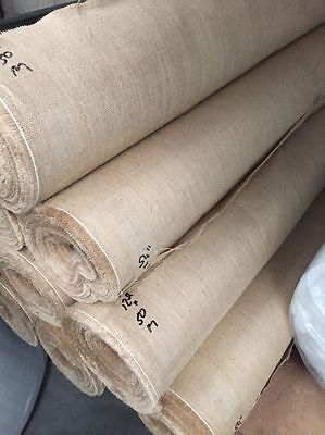 LUXURY 12oz FINE WOVEN NATURAL JUTE BURLAP HESSIAN CRAFT SACK UPHOLSTERY 100CM