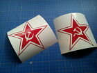 decals 2 PAK RUSSIAN STAR communist Russia stickers