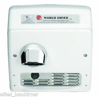 World Xra54-q974 (208/240v) Hand Dryer Recessed Automatic With Cast Iron Cover