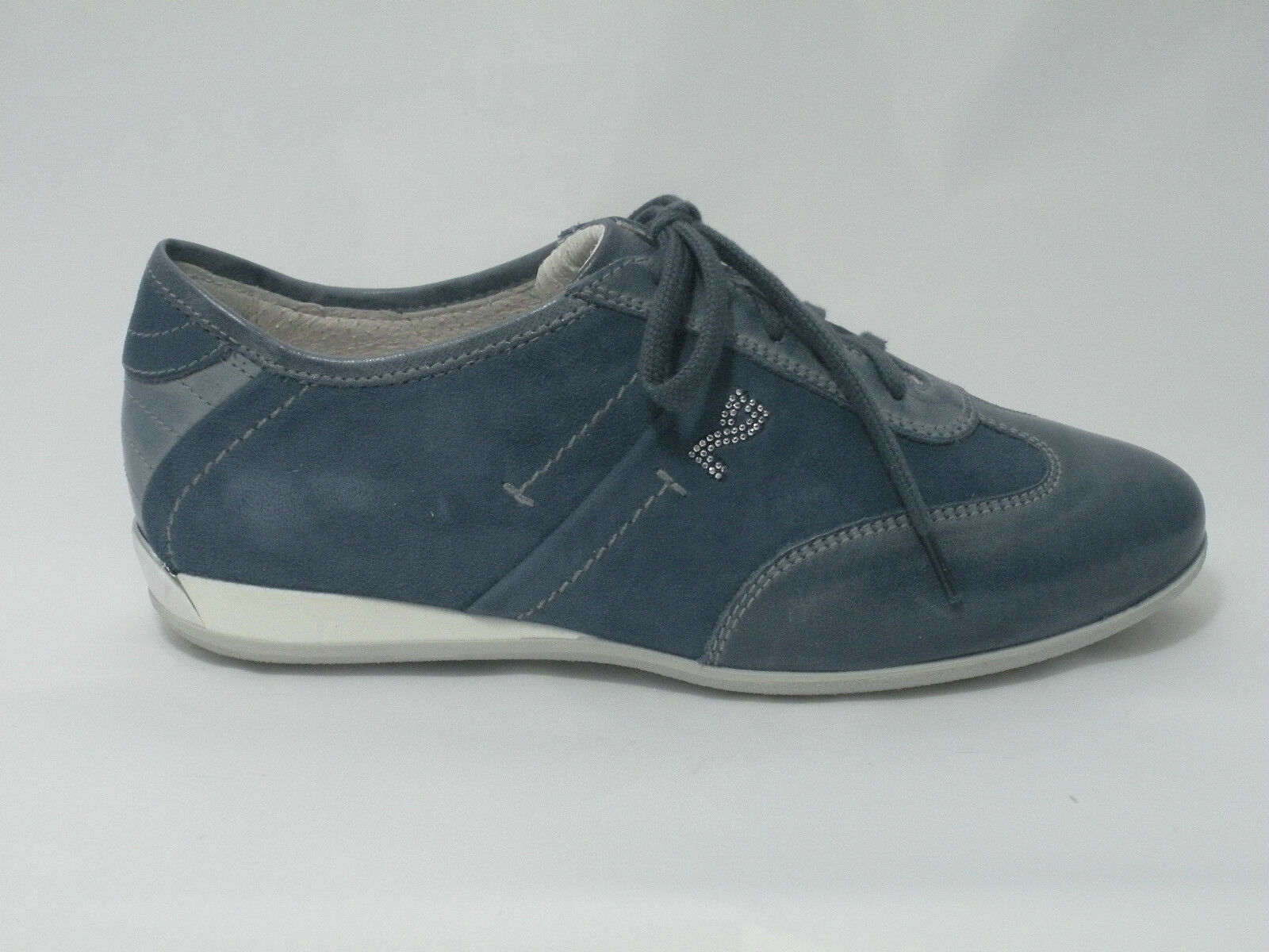 SCARPE NERO GIARDINI DONNA DONNA DONNA scarpe da ginnastica P308442D CAMOSCIO NAVY MADE IN ITALY scarpe 2e244a