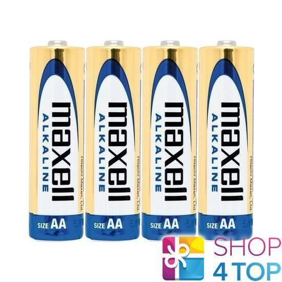4 maxell Alkaline AA r6 batteries 1.5v mn1500 am3 e91 Exp 2023 new