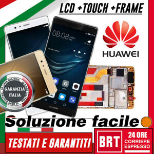 DISPLAY LCD+TOUCH SCREEN+FRAME ORIGINALE X HUAWEI P9 PLUS VIE-L09 SCHERMO VETRO!