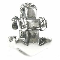 Queenberry Sterling Silver Ship Anchor European Style Bead Charm