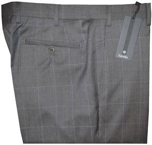 425-NEW-ZANELLA-NORDSTROM-DEVON-HEATHER-GRAY-WINDOWPANE-130-039-S-DRESS-PANTS-40