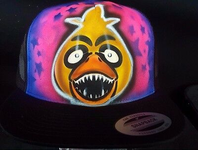 Five Nights at Freddy's Chica personalized airbrush trucker hat