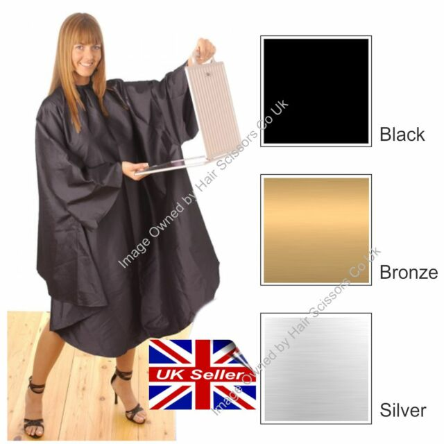 Hair Tools Salon Hairdressing Cutting Gown Satin Bronze Adult Fully ...