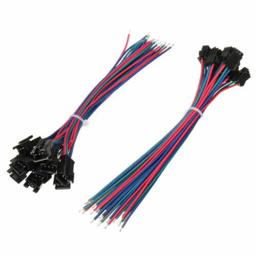 10 Sets JST SM 3Pin 15cm Male and Female 22AWG Strip Wire Connector Pitch 2.54mm