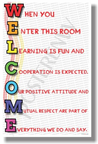 - NEW Motivational POSTER rainbow Welcome cm1184 When You Enter This Room