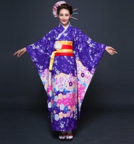 Kimonokleid der traditionellen japanischen japanischen japanischen Damen Kimono Kostüm ethnischer Kleid 90bf96
