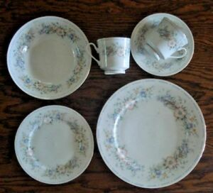 Details about 6 pc place setting Home Design Belle Jardin plate bowl
