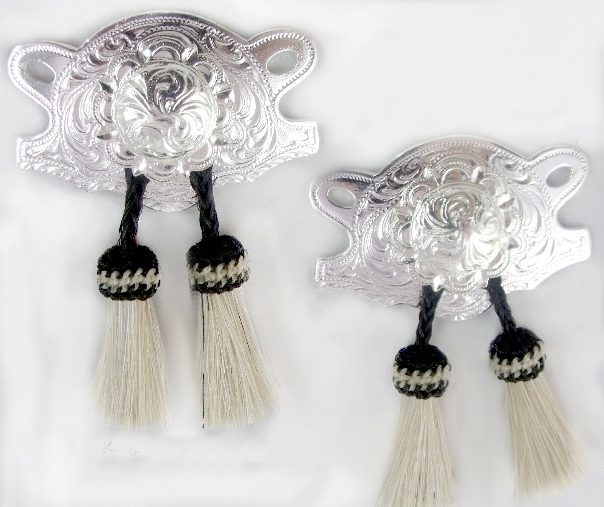 Cowgirl Boot Jewelry, Boot kilty's  Horsehair, boot Kilties, White  Bling-up