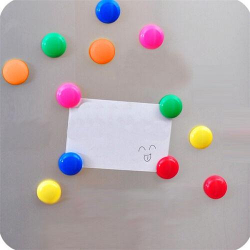Magnete Set 12 teilig für Kühlschrank Büro Tafel Pinnwand Bunt Rund 2,8 x 0,9 cm