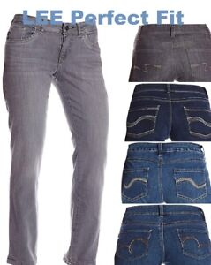 2e5780e152f17 Lee Jeans Womens Perfect Fit Straight Leg Pants Stretch Shape Denim ...