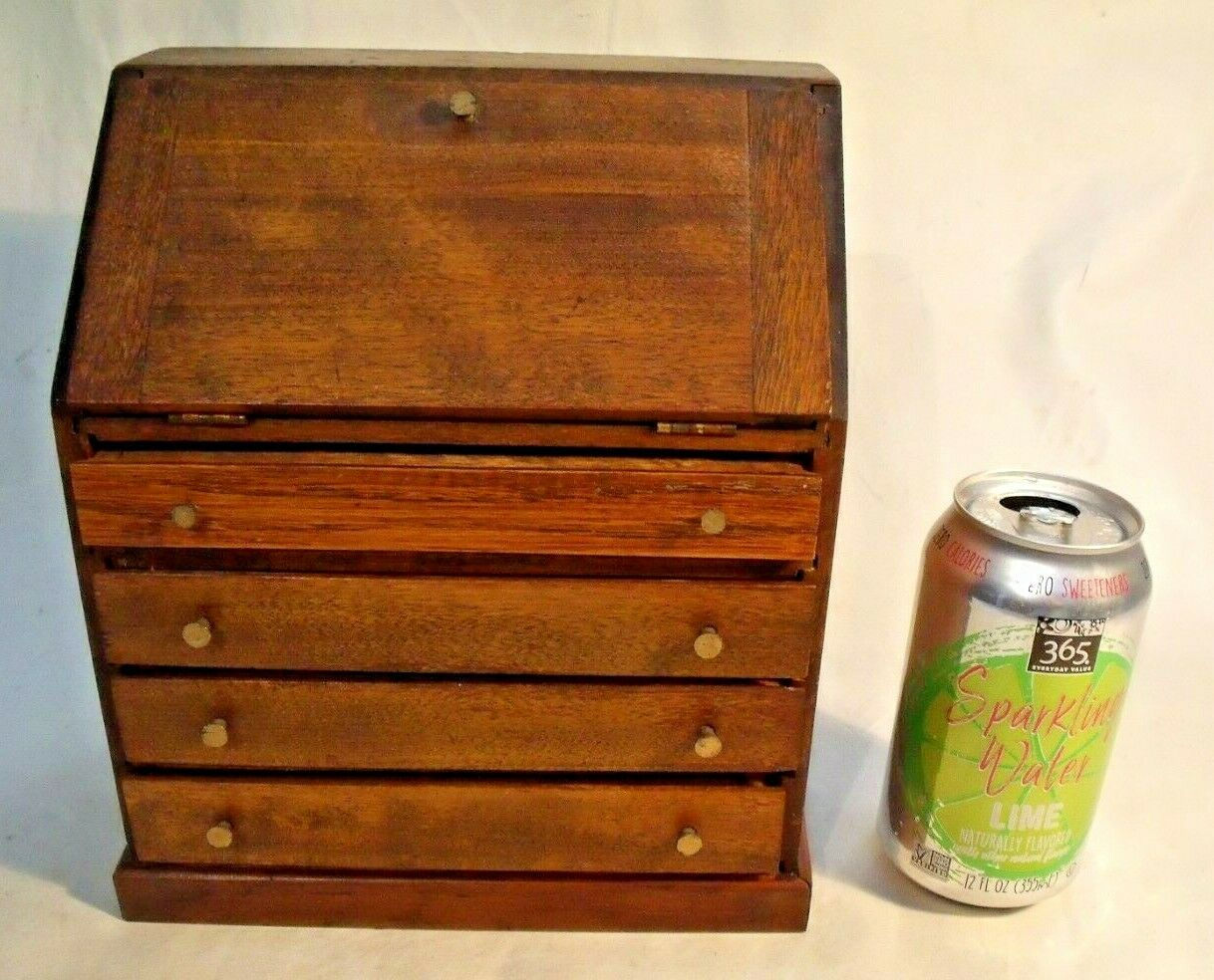 Beautiful Antique Miniature Model Wooden Desk--Much Larger than Dollhouse Scale