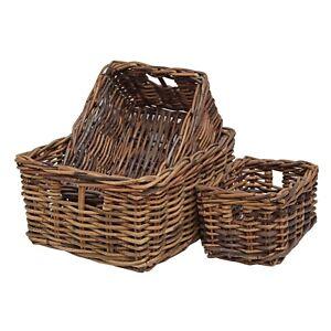 Wicker-Storage-Basket-Shelf-Drawer-Kitchen-Bathroom-Rustic-Brown-Rattan