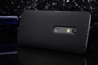 Black Nillkin Shell Matte Hard Cover Case + LCD Guard For Motorola Moto X Play