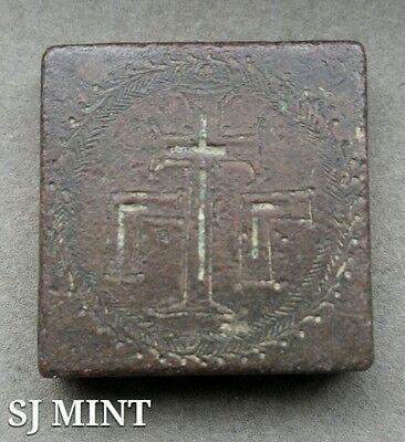 Münzen Mittelalter Treu Antike Quadratische Byzantinisch Comercial Gewicht 400-600 Ad Extra Selten 80.8