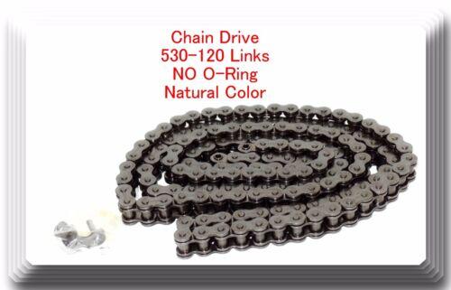 No-Ring Drive Chain Natural Color 530 x120 Link For Suzuki GSXR 1000 GSX-R750