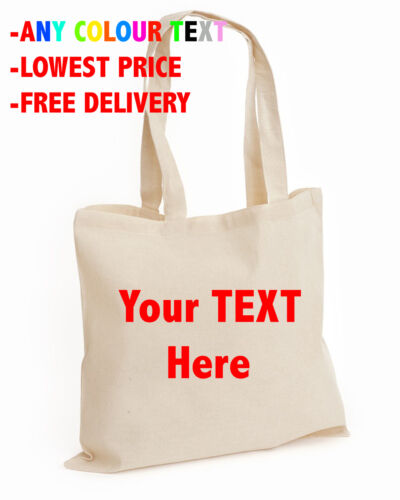 BAG Your TEXT Here top Wedding Cotton tote bag Personalised Stag Hen Print lot