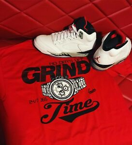 877d61e670d71f Image is loading Shirt-Match-Jordan-5-Cement-Retro-5-039-