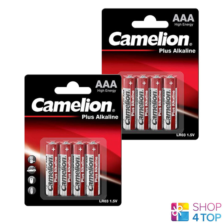 8 camelion AAA plus alkaline batteries lr03 mn2400 am4 e92 1.5v 4bl Exp 2027 new