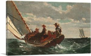 ARTCANVAS Breezing Up - A Fair Wind 1876 Canvas Art Print by Winslow Homer