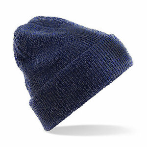 beanie hat new knitted winter warm wooly unisex mens ladies turn up ... 2e7d7b611010