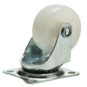 Universal-wheel-for-Smart-Car-Furniture-caster-White-nylon-PP-Robot-Omni-wheel
