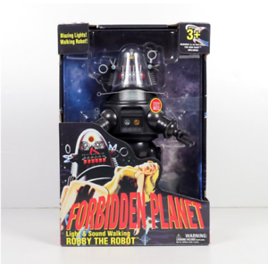 """15"""" Forbidden Planet Robby The Robot - Light & Sound Walking Toy, Action Figure"""