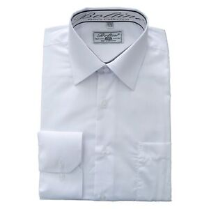 Boltini-Italy-Men-039-s-Collection-Long-Sleeve-Dress-Shirts-Convertible-Cuffs-White