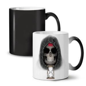 Clock Metal Death Skull NEW Colour Changing Tea Coffee Mug 11 oz | Wellcoda