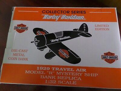 Racing Champions 1929 Travel Air Model R Goodyear Airplane Die Cast Bank #00326