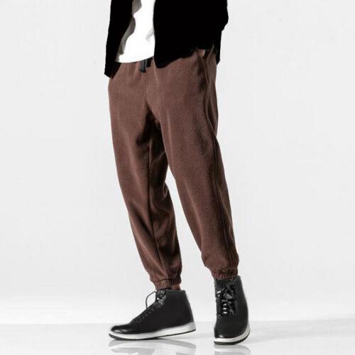 Mens Joggers Fleece Tracksuit Bottoms Sweatpants Track Harem Pants Trousers