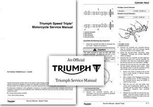 triumph speed triple 1050 workshop service shop manual ebay rh ebay com au triumph rocket 3 shop manual triumph bonneville shop manual