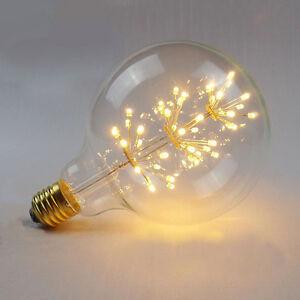 Large Filament Light Bulb: Image is loading Large-Fireworks-LED-Light-E27-Edison-Vintage-Filament-,Lighting