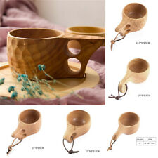 Nordic Style Handmade Kuksa Wooden-Handcraft Cup Milk Drinking Mug Birthday Gift