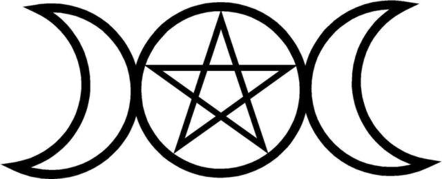 Pagan Triple Goddess Witchcraft Symbols Sticker Decal Graphic Vinyl