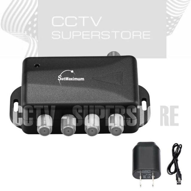 TV ANTENNA Signal Booster Amplifier Splitter HDTV CABLE 4 PORT Audio Video