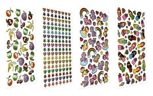 Scented Foil STICKERS {Purple Peach} Arts//Crafts//Reward//Fun//Princess//Animals