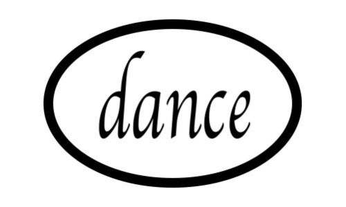 "Dance  Oval car window bumper sticker decal 5/"" x 3/"""