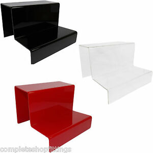 New 2 Step Acrylic Display Stand Retail Shop Jewellery Two