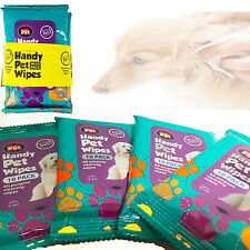 4 X 10 PACK WIPES HYGIENE CLEANING WIPES EAR PAW BODY HEAD GROOMING DOGGY LITTER