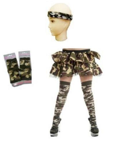 Complet Armée Camouflage Soldat Armée Déguisement Costume Chaussettes Camo Hen Do