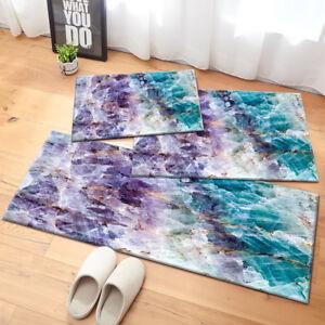 Details about Purple & Turquoise Quartz Stone Pattern Area Rugs Bedroom  Living Room Floor Mat