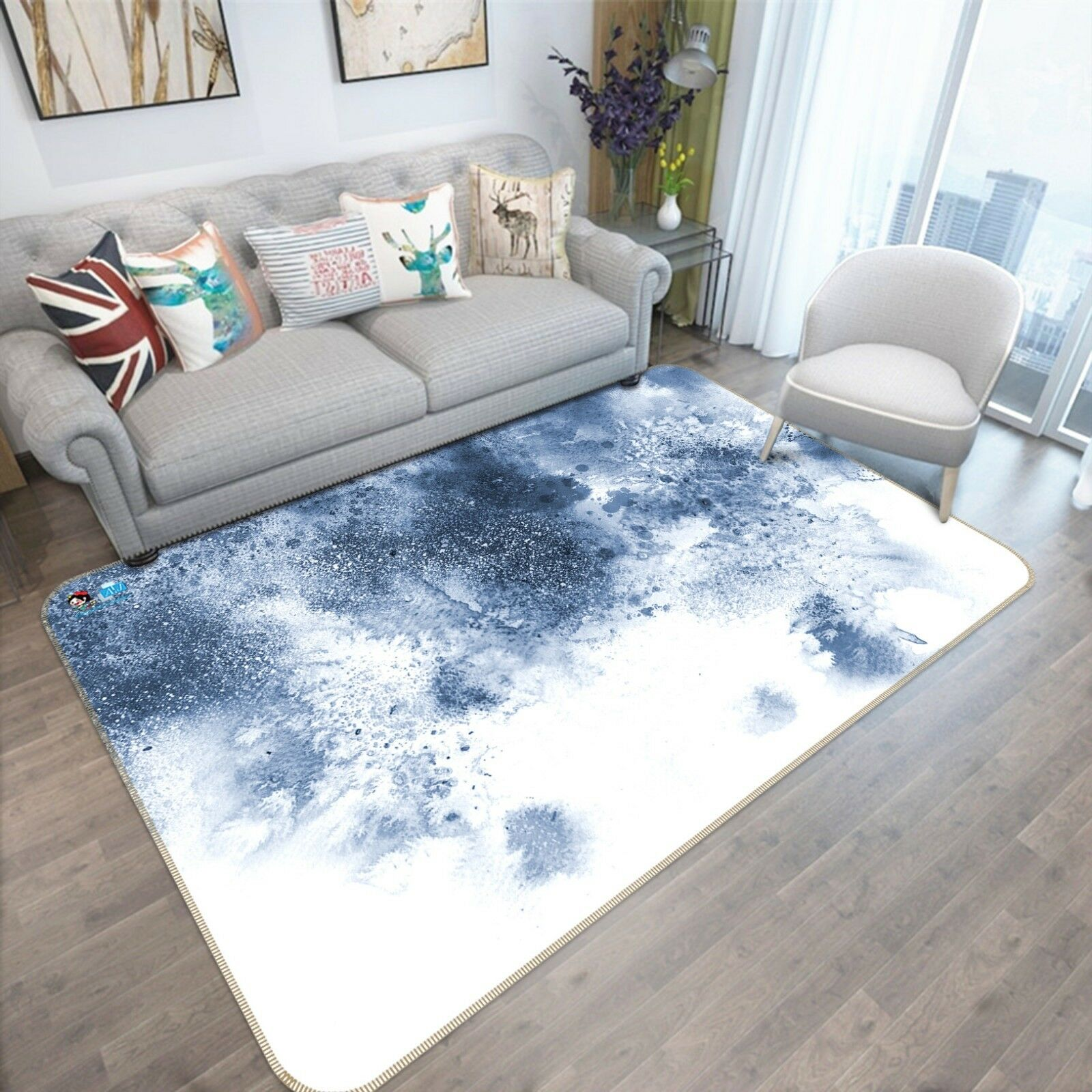3d tinta graffiti arte 4 antideslizante alfombra maletero calidad elegante alfombra