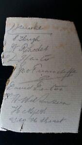 YORKSHIRE  TEAM circa 1900 in pencil  on boardLord Hawke J Tunnicliffe S Haigh - Romford, United Kingdom - YORKSHIRE  TEAM circa 1900 in pencil  on boardLord Hawke J Tunnicliffe S Haigh - Romford, United Kingdom