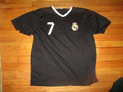half off 620b9 85d18 Black REAL MADRID #7 Cristiano Ronaldo Practice Jersey XL Football Sewn  Crest | eBay